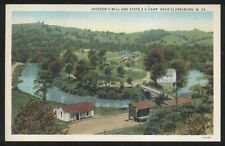 Postcard CLARKSBURG West Virginia/WV Jackson's Mill & 4-H Camp Aerial view 1920s