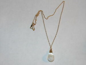 Vintage Floating Opal Necklace 12kt Gold Filled Chain