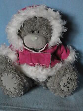 Me To You peluche ourson 20 cm assis * MADEMOISELLE *-* veste daim rose capuche
