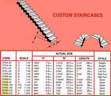 PLASTRUCT STAA-48  Scala dritta a gradini scala 1/48
