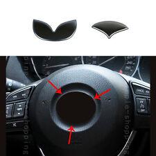 2x Stainless Steering Wheel Center Cover Trim Ring For Mazda 3 Axela 2014-2017
