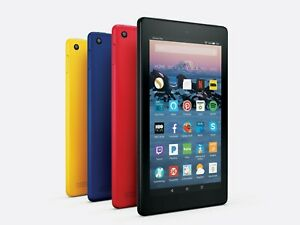 """Amazon Fire 7 Tablet With Alexa 7"""" Display 8 GB 7th Gen - Good Condition"""