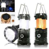 Solar Power Rechargeable LED Flashlight Camping Tent Light Lantern Lamp Outdoor