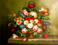 Quality Hand Painted Oil Painting, Floral Still Life I 36x48in