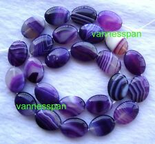 Purple Botswana Agate Flat Oval Beads 12×16mm 15.5""