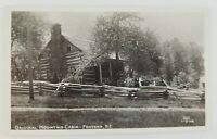 Postcard Real Photo Original Mountain Cabin Fontana North Carolina