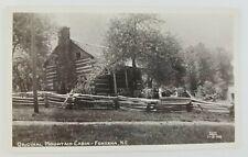 Postcard Real Photo Original Mountain Cabin Fontana North Carolina
