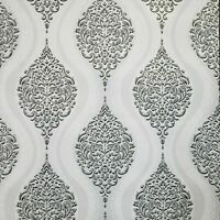 Vintage retro style paper Wallpaper grey Wall coverings Roll Textured Damask 3D