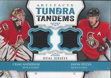 Craig Anderson Jason Spezza 2013-14 UD Artifacts Tundra Tandems Blue Senators
