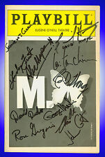 Playbill + M Butterfly + Autographed by, the writer David Henry Hwang, B.D. Wong