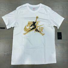Nike Air Jordan Jumpman White Gold Mashup Classics Tee T-Shirt BV5905-102 Men's