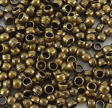 200 Perles à écraser Rondes Baril Crimp Beads 2mm Couleur Bronze