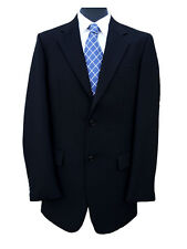 "Freemasons Black Herringbone Wool Jacket 48"" Long"