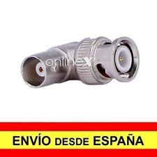 """Adaptador Conector CCTV Macho BNC COAXIAL"""" T """" A DOS HEMBRAS  a4101"""