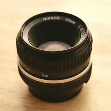 Nikon 50mm F/2 AI-S Lens - Excellent - with both caps and UV Filter