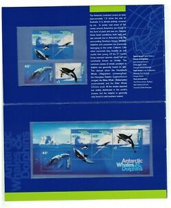 MAAT131) Australian Antarctic Territory 1995 Whales & Dolphins Stamp Pack MUH