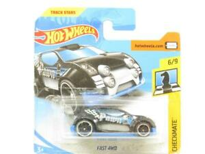 Hotwheels Veloce 4WD Nero Scacco Matto 6/9 Piccolo Scheda 1 64 Scala Sigillato