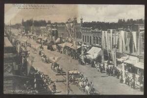 Postcard BOZEMAN Montana/MT  Business Area Parade Celebration 1907