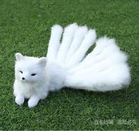 Cute Nine-tailed Fox Plush Doll Simulated Animal Stuffed Toy Model Decor Gift