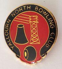 Yallourn North Bowling Club Badge Pin Vintage Bowls Power Station Design (L29)