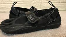 FILA Skeletoes EZ Slide Black Barefoot Running Water Shoes Size 7 US