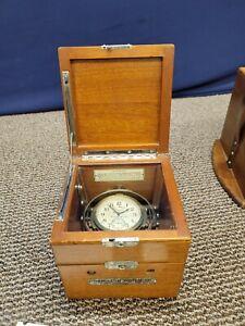 1943 Hamilton Watch Chronometer Watch 22 Gimbal Double Case 37125 U.S. Navy USA