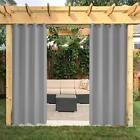 Outdoor+Curtain+Panel+Privacy+Drape+Grommets+Window+Curtain+50x120%E2%80%9D+Grey+1+panel