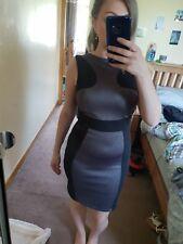 Paradis Snake Skin Look Black Dress Sleeveless Bodycon Party Formal Size 8