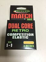 Maver Dual Core Retro Competition Hollow Elastic Size 5 - 8 Orange 3m