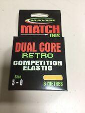 Maver Dual Core Retro Competition Hollow Elastic Size 5 - 8 Orange 3m