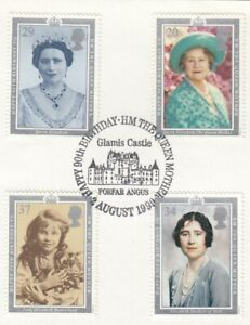 (67284) GB Used Queen Mother 90th Birthday 1990 ON PIECE