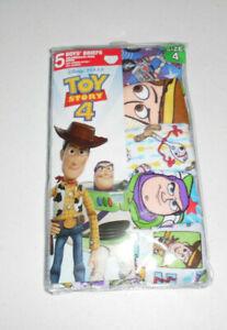 Toy Story 4 Disney Pixar Kids 5 Cotton Briefs Underwear Boys Size 4 White Prints
