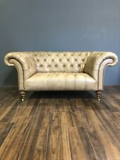 Ex-Display Signature - Our Newcastle Hand Dyed Leather Chesterfield Sofa