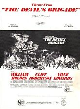 The Devil's Brigade THEME 1968 WILLIAM HOLDEN Movie ALEX NORTH Sheet Music!