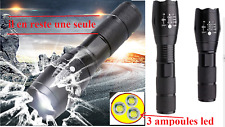 Torche lampe  de poche XM-L T6 / XM-L 3T6. x800 militaire 3 led
