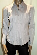 Hot Options Brand Dusty Pink Dobby Stripe Blouse Shirt Size 12 BNWT #TN64