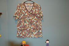 Tafford Women Nursing Scrub Shirt Floral Pattern Size S