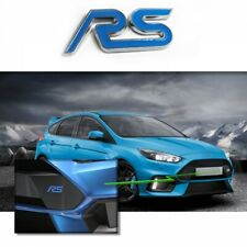 Ford RS EMBLEMA LOGO AZUL 3D ADHESIVO CROMADO IMPERMEABLE FOCUS SERIE RS