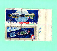 SCOTT # 1569-1570 Apollo Soyuz Space Issue U.S. Stamps Used NH Plate Block of 2
