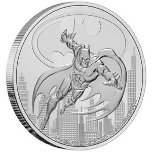 $2 BATMAN 2021 NIUE 1 OZ SILVER 999 COIN UNCIRCULATED ARGENT (in capsule)