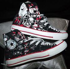 CONVERSE All*Star CT ltd edition clown street art punk hi-top used sneakers 4 6