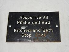 """KUNSTSTOFFSCHILD """"ABSPERRVENTIL KÜCHE UND BAD"""" KUNSTSTOFF SCHILD"""