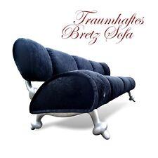 BRETZ Sofa Sitzbank dicker Samtstoff * schwarz * Traum Möbel gänzlich Original