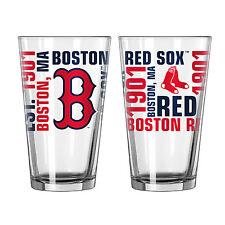Boston Red Sox 16 Oz. Spirit Pint Glass 1 Per Order MLB Official
