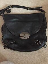 tommy hillfiger bag hobo bag. Black/ brown leather