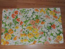 LADY PEPPERELL STANDARD PILLOWCASE ORANGE YELLOW GREEN FLORAL NO-IRON MUSLIN