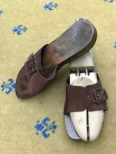 Sandali da uomo GUCCI Thongs Flip Flop Marrone in Pelle Scamosciata Tg UK 8 US 9 EU 42 legno