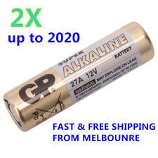 2 x GP 27A Super High Voltage 12V Alkaline Batteries BUY MORE SAVE MORE - Free S