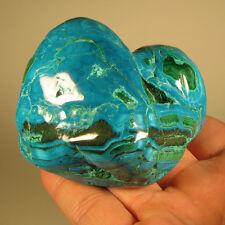 """3.2"""" Polished Botryoidal CHRYSOCOLLA & MALACHITE Gemstone - Congo, Africa"""