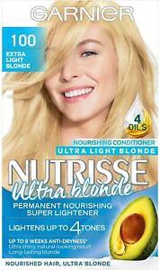 Garnier Nutrisse Light Blonde Hair Dye Permanent, 100 Extra Light
